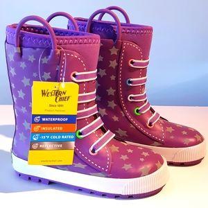 Twinkle stars rain / winter boots